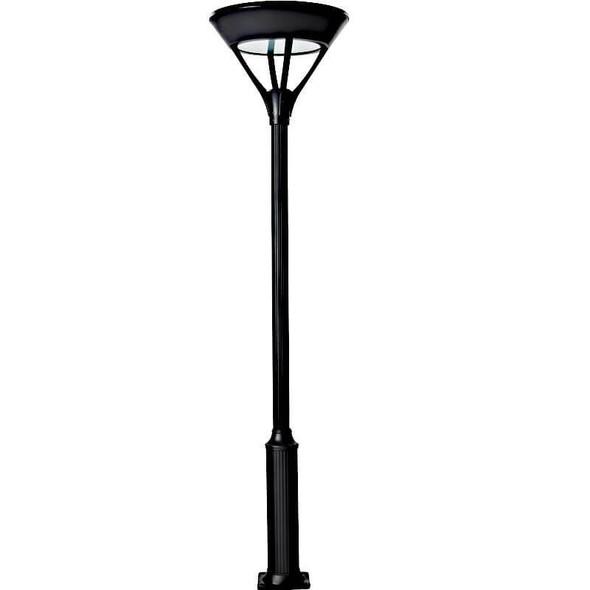 ILPL4-6K Solar Powered Modern Style Post top Light Fixtures 2600 Lumens