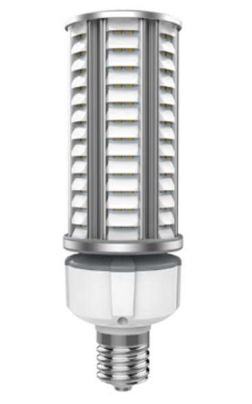 36 Watt Dark Skies Compliant LED Retrofit Bulb, E26 Base with E39 Adapter UL DLC Listed 5K, 4kv surge protection. UL DLC Certified 5000K Color.