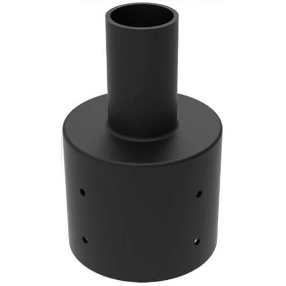 """IMPT5-BLK 5"""" Round Post top Tenon with 2 3/8 """" OD Tenon Mount for exterior Light fixtures"""