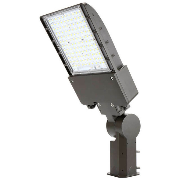 IL-MAL04-45-5K-S 480 VAC 45W LED Flood Light Fixture with Slipfitter Mount, 5000K Color Temperature Pole mounted Fixture 250 Watt MH Equivalent