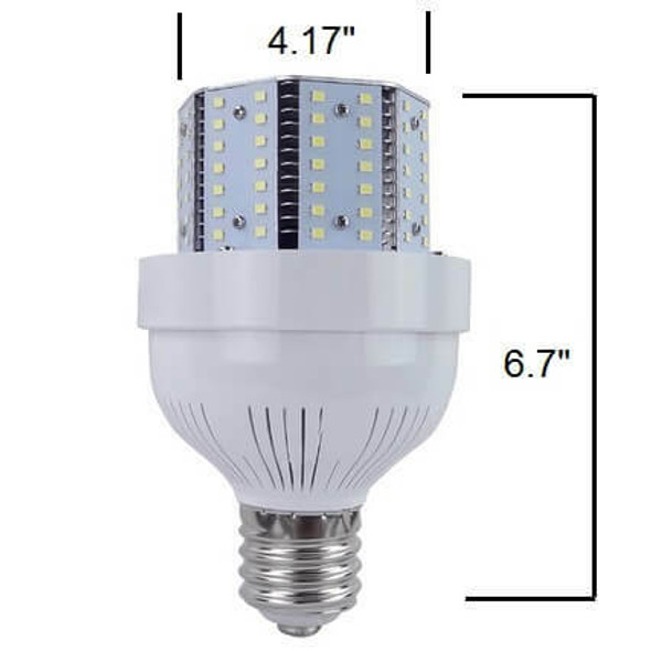 ICYC40 Compact 40 Watt LED Corn Light Metal Halide Replacement, ETL Listed DLC 3000K - 6000K