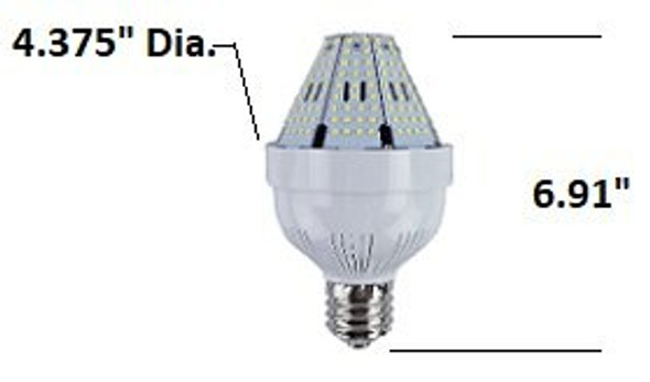 ICYA40 40 Watt Post Top Mounted LED Bulb, 120v/480v, E26/E39/EX39, HID Replacement Lamps 3000K - 6000K