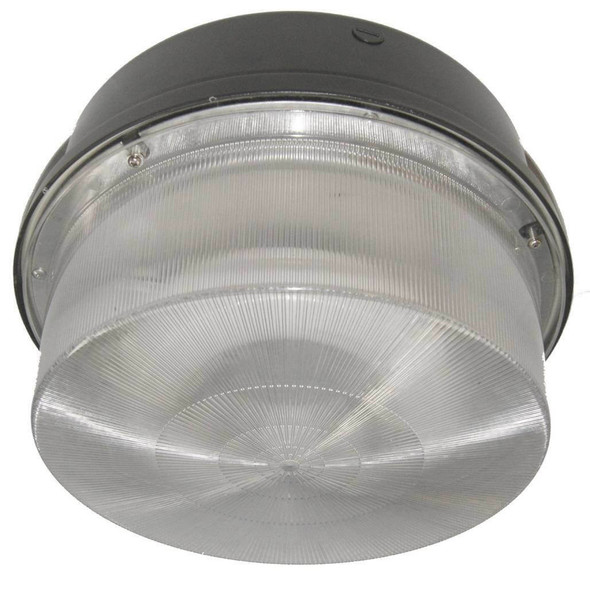 "40 Watt Induction Parking Garage Light Fixture / 12"" Round with Surface and Canopy Mounting"