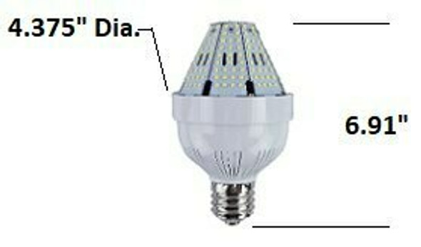 ICYA80 80 Watt Post Top Mounted LED Bulb, 120v/480v, E39/EX39,  HID Replacement Lamps  3000K - 6000K