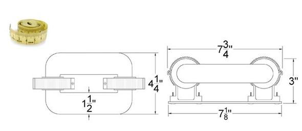 ILSL40 40 Watt Induction Rectangular Light, Square Lamp and Ballast Retrofit Kit, 120v 3000K -6000K