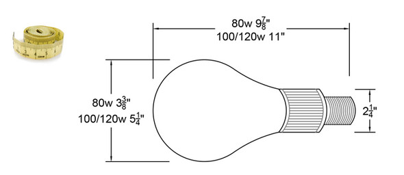 ILDE80 Series 80W Induction Spherical Retrofit Bulb E39 Mogul Base 80 Watt Induction Light Kit