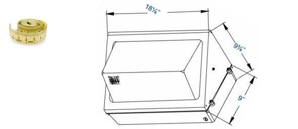 IWP Series 100W Large Induction Outdoor Wall Mount Wall Pack Light Fixture 100 watt
