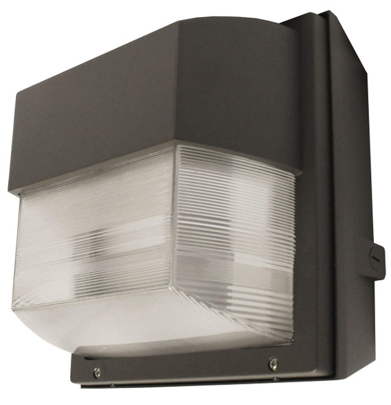 """IWH100 100W Induction Prismatic Wall Pack Light Fixture, 12"""" Square, Wall Mount, Outdoor light 100 Watt"""