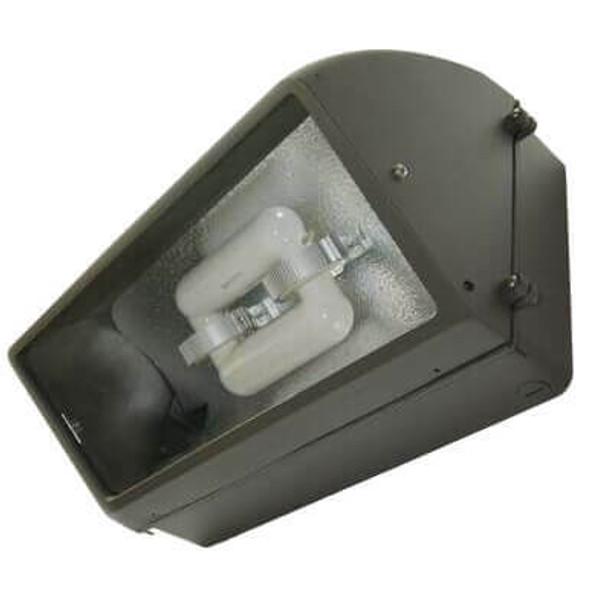 """IW1M40 40W Induction Wall Pack Outdoor Light Fixture Mini 14 """" width, 45 Degree Cutoff, 40 Watt"""