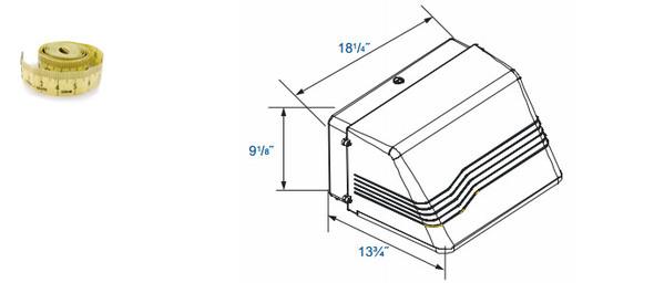 "IW480 Series 80W Induction Outdoor Wall Pack Light Fixture Wall Mount, Full Cutoff 18"" Dark Sky Compliant 80 Watt"
