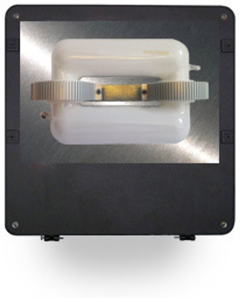 "FI120 120W Induction Square Flood Shoebox Area Light Fixture 16"" Parking Lot Light 120 Watt"