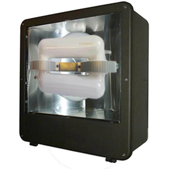 """FSDS200 200w Induction Shoe Box Light Fixture 23"""" Housing Smooth Reflector, Flood Light, Parking Lot Light 5000K"""