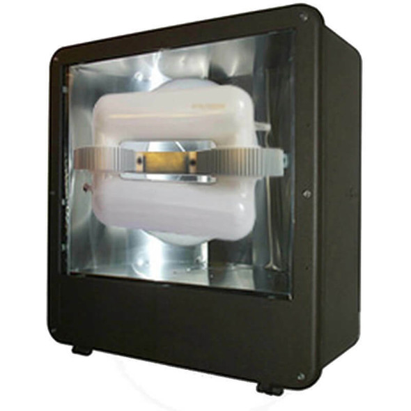 """FSDS250 250w Induction Shoe Box Light Fixture 23"""" Housing Smooth Reflector, Flood Light, Parking Lot Light 5000K"""