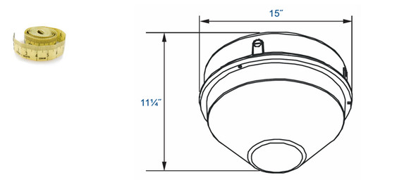 "IGF5100 Series 100w Induction Parking Garage Fixture with Conical 15"" Round Cone Lens for Parking Garage Lighting 100 watt"