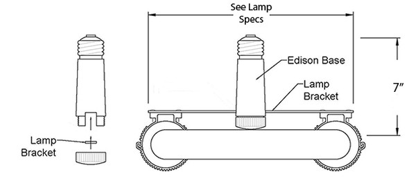 Retrofit Edison Base Adapter Kit for Induction Lamp Bulb