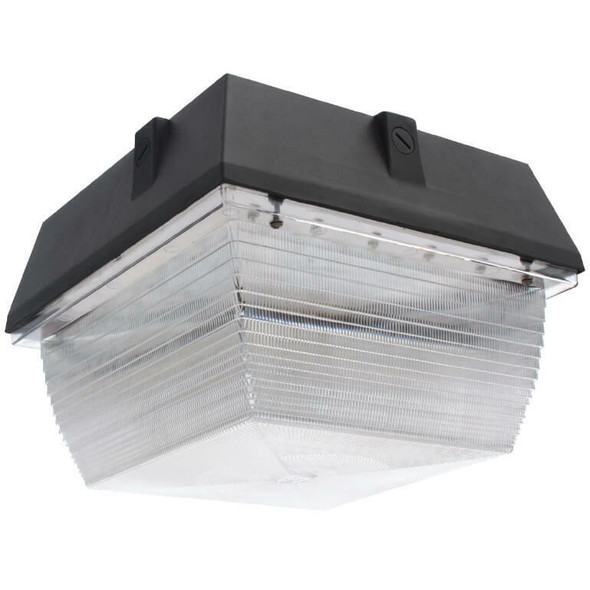"""IGF250 50w Induction Parking Garage Fixture / 12"""" Square Fixture for Surface and Canopy Mounting 5000K"""