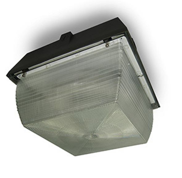 "26w LED 120v Parking Garage Fixture 12"" Square Fixture for Surface and Canopy Mounting 26 Watt"