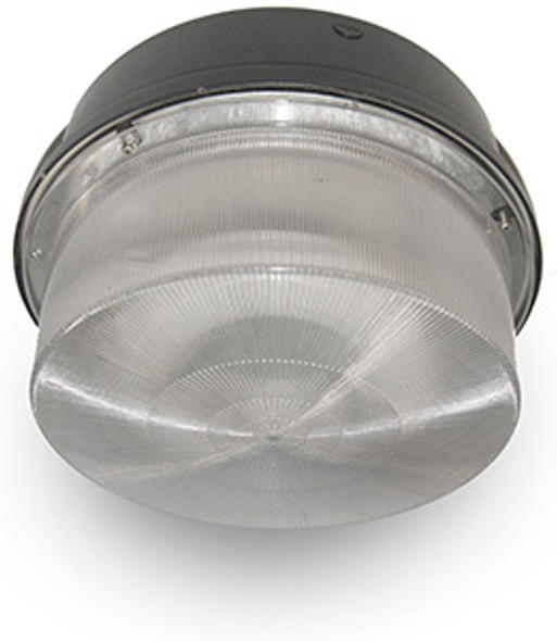 "26w LED 120v Parking Garage Fixture 15"" Round Fixture for Surface and Canopy Mounting 26 Watt"