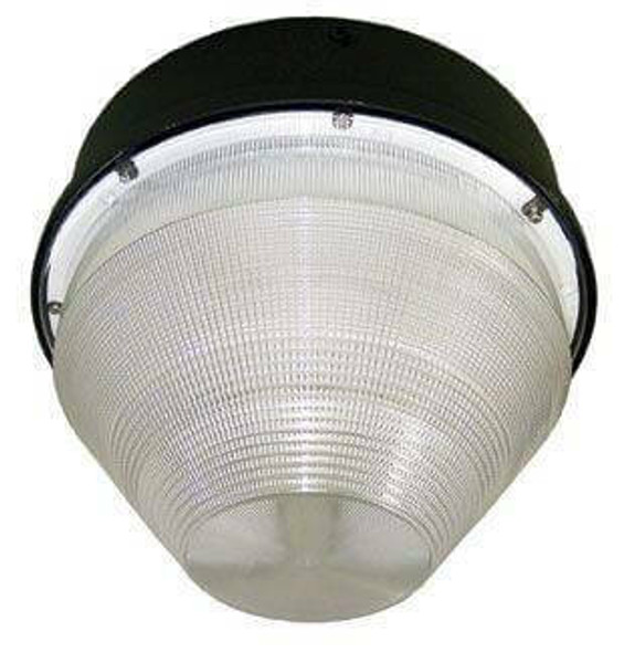 """52w LED 120v Parking Garage Fixture / Conical 12"""" Round Cone Fixture for Surface and Canopy Mounting 52 Watt"""