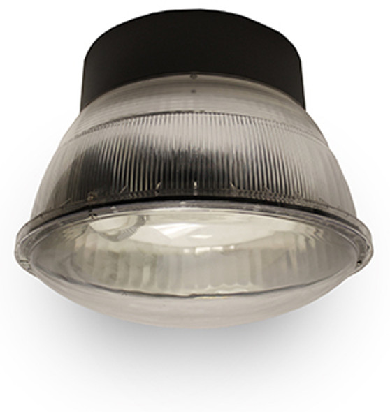 "52w LED 120v Parking Garage Fixture Aluminum 16"" Round Fixture for Surface and Canopy Mounting 52 Watt"