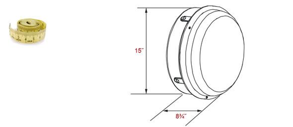 IW1C60 Series 60 Watt Induction  360 Degree 15 Inch Round Open Wall Pack Light