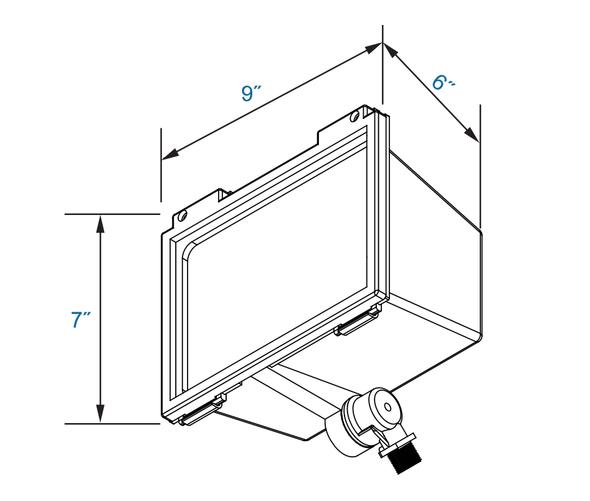 LFL30-5K 30 Watt LED Mini Adjustable Flood Light Fixture 120vac -277vac DLC Certified