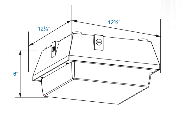 LG253-5K 53w LED Parking Garage Fixture for Surface and Canopy Mounting DLC Certified