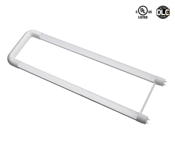U Tube 18 Watt LED T8 Warm White UL Listed DLC Lamp with Line Drive(Direct to AC) Technology 3000K Color Temp.