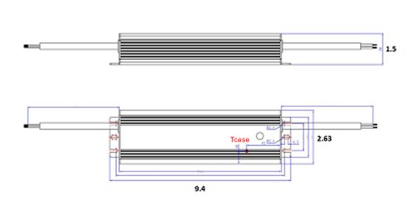ILLA-150285 150w LED Power Supply 120v-277v Constant Current LED Driver 150 Watt, 42-54vdc, 2.85 amps
