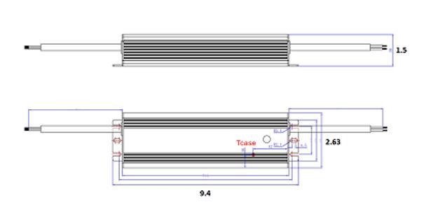 ILLA-180350 180w LED Power Supply 120v-277v Constant Current LED Driver 180 Watt, 42-54vdc, 3.50 amps
