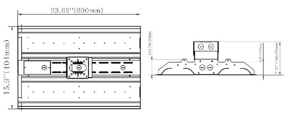 ILLHB2100-5K 100 Watt 10 Year LED Linear High Bay Light Fixture Fluorescent Replacement. 2x2 Ft