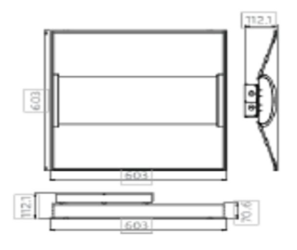 ILUX40W2x2-5K LED Troffer Light Fixture 2x2 ft 40 watt 5000k DLC Certified Grid Ceiling Light