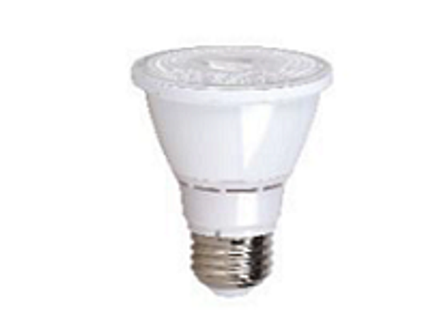 PAR20 LED with Medium Base 2700K . Dimmable 7W 120vac (24pcs/Case) Sold By the Case.