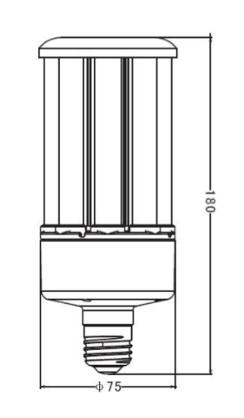 "22 Watt LED Corn Light Bulb, (E26/27) Base UL DLC Listed 5000K, Ballast Compatible, 6KV Surge Protection 150Lm/W ""Case Only"" 12/case"
