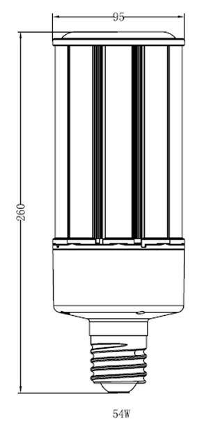 "54 Watt LED Corn Light Bulb, (E39/40) Base UL DLC Listed 2700K, Ballast Compatible, 6KV Surge Protection 150Lm/W ""Case Only"" 12/case"