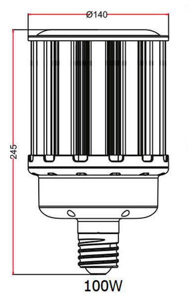 "100 Watt LED Corn Light Bulb, (E39/40) Base UL DLC Listed 5000K, Ballast Compatible, 6KV Surge Protection 150Lm/W ""Case Only"" 6/case"