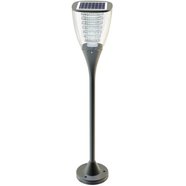 LGA-PLB-100 Bollard Style Solar Post Light Fixture, Solar Powered, LED LGA Sereis 100 Lumens B Mount