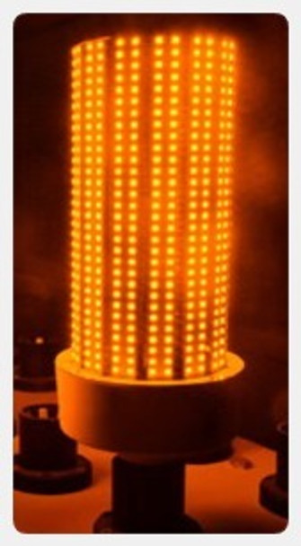 AMBER 120 Watt Sea Turtle Friendly Corn Light ,LED Replacement, 360 Degree Beam Angle Mogul (E39/40) Base Amber Color