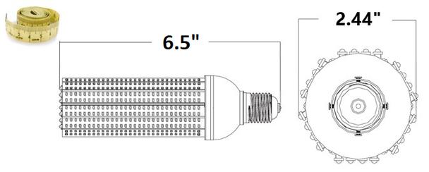 ICM15-AMBER 15 Watt Sea Turtle Friendly Corn Light LED Replacement Medium (E26/27) Base,  E39 Adapter Amber Color