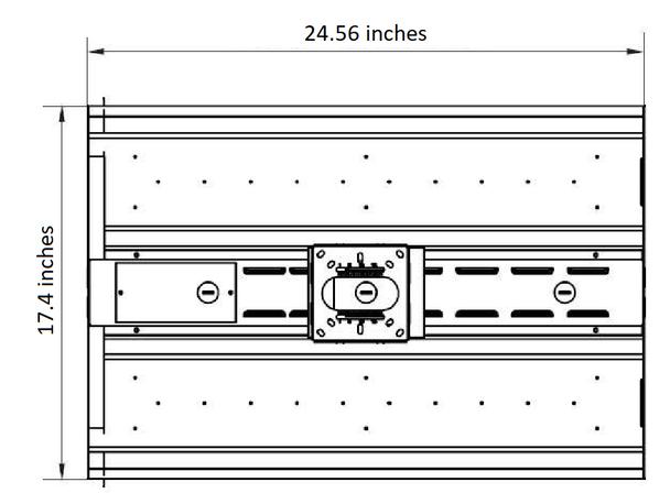 ILECOHB2105 13,650 Lumen LED High Bay Light Fixture 10 year warranty, ILECOHB Series Fluorescent Replacement.105 Watt 2x2 Ft DLC