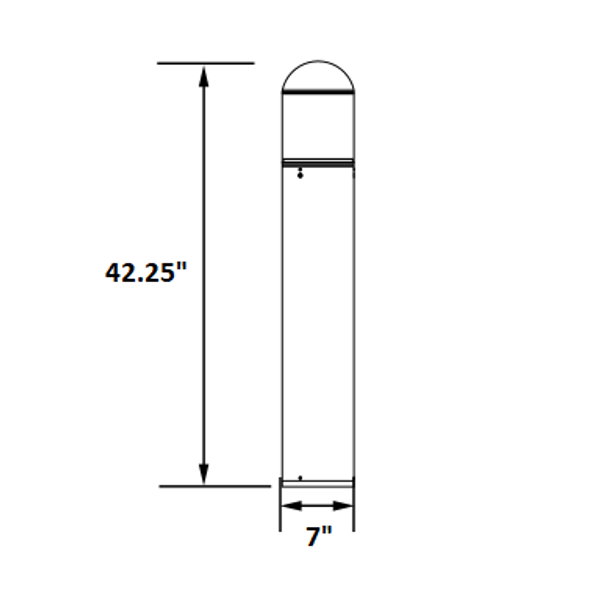 LED Bollard Stainless Steel Post Light, With Cone Reflector, Round Top, 15 Watt, 5000K