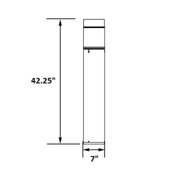 ILBOFG3Q-5K LED Bollard Post Light, WithType 3 Glass Reflector, Flat Top, 15 Watt, 5000K