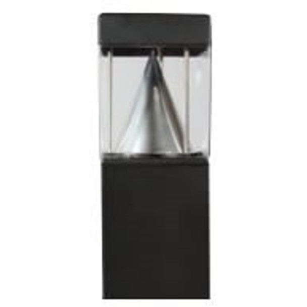ILBOSFRLQ-5K LED Bollard Square Post Light, With Cone Reflector, Flat Top, 15 Watt, 5000K