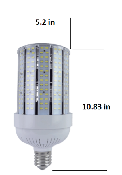 480 VAC 200 Watt LED HID Replacement, Compact Design 28,000 Lumen Output (E39/40) Base ETL Listed 6000K