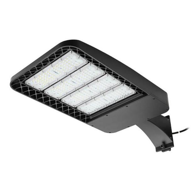 LKHC300-5K-A 300 Watt Shoebox Light Fixture, LED Parking Lot Light Fixture 1500 Watt MH Replacement Arm Mount