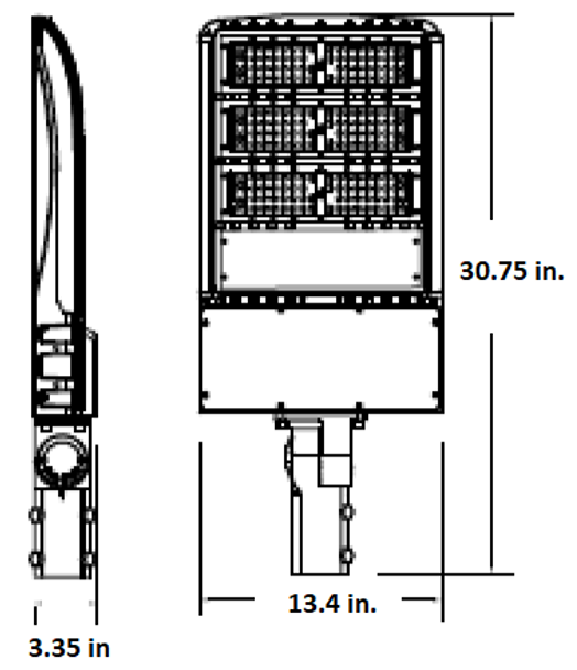 185 Watt 26000 Lumens LED Area Light Fixture with slipfitter mount ,LKHM Parking Lot Light Fixture 800 Watt MH Equivalent 5000K