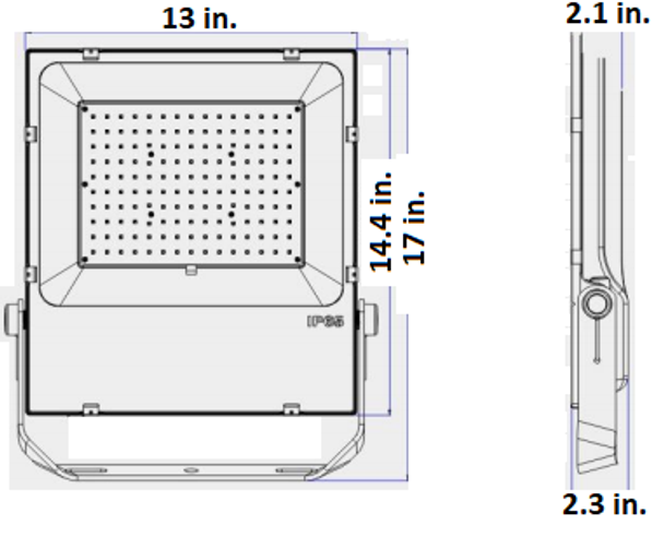 LFLH150 Series 150 Watt High Power LED Indoor \ Outdoor Flood Light, Area Light Fixture, with Yoke Mount DLC Certified