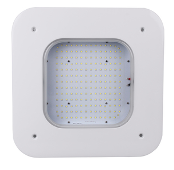 150w LED LGSL Series Low Profile Gas Station Canopy light Fixture for Surface or Pendant Mounting DLC Certified
