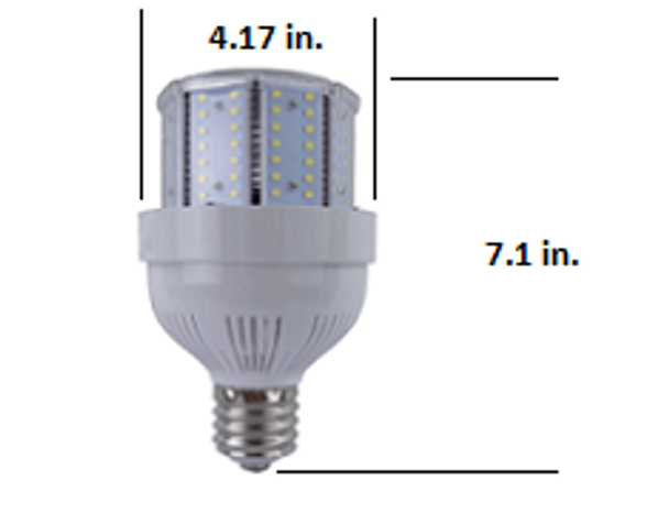 480 VAC 65 Watt LED Metal Halide Replacement, Compact Design 9100 Lumen Output (E39/40) Base ETL Listed 5000K DLC