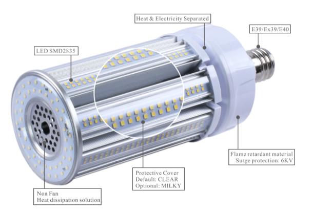 ICEX3920-5K Compact LED Corn Light Bulb, 20 Watt EX39 Base ETL DLC Listed 5000K, 2600 lumens